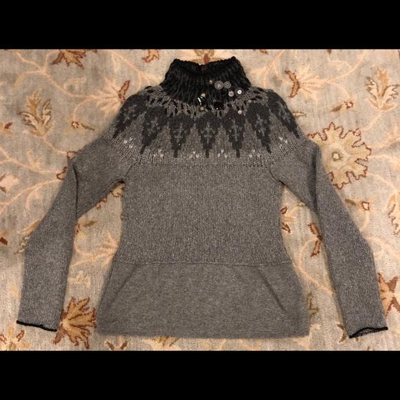 promo code 2457f 6db75 Brunello Cucinelli Cashmere Fair Isle Sweater S